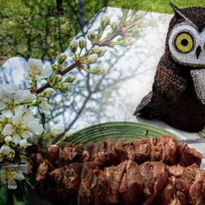 Садовая фигурка совы готова